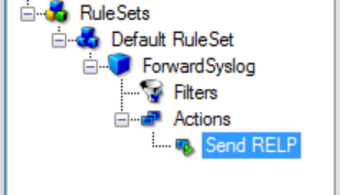 Added Send RELP action in the tree view