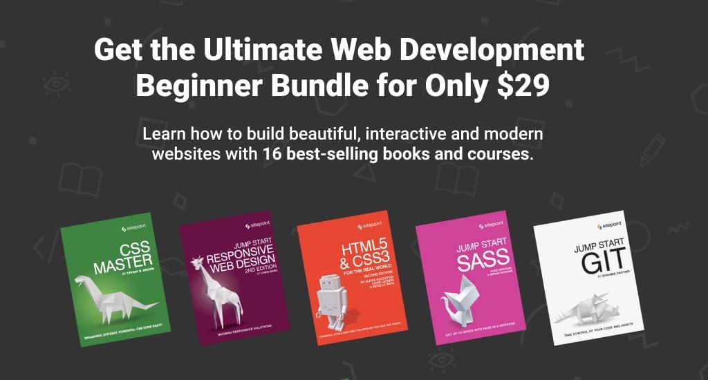 SitePoint Beginner Bundle for $29