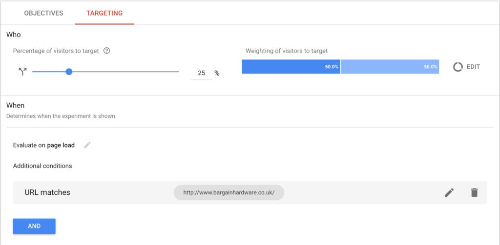 Customizing targeting