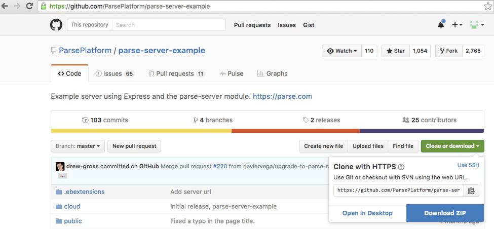 GitHub Parse Server Example Repo