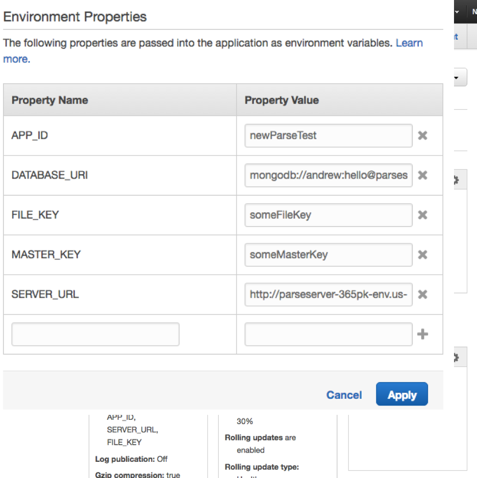 Environment Properties