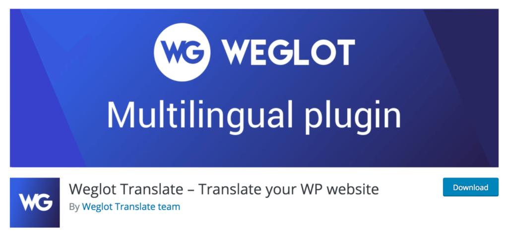 Weglot website download page
