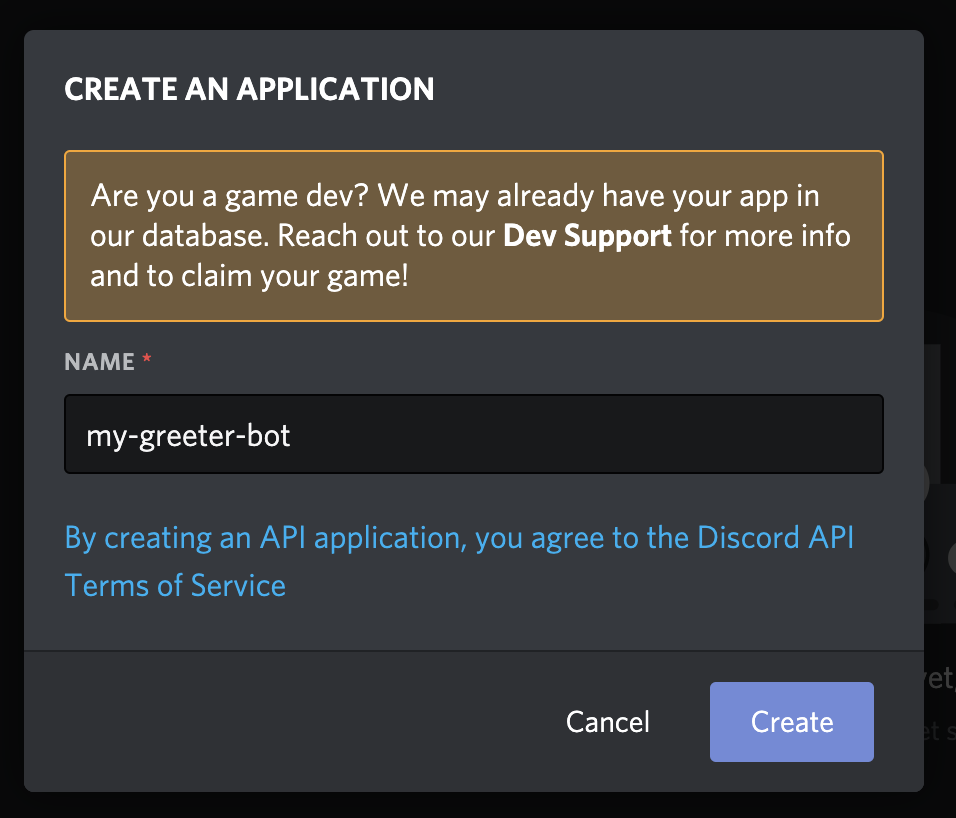 create application