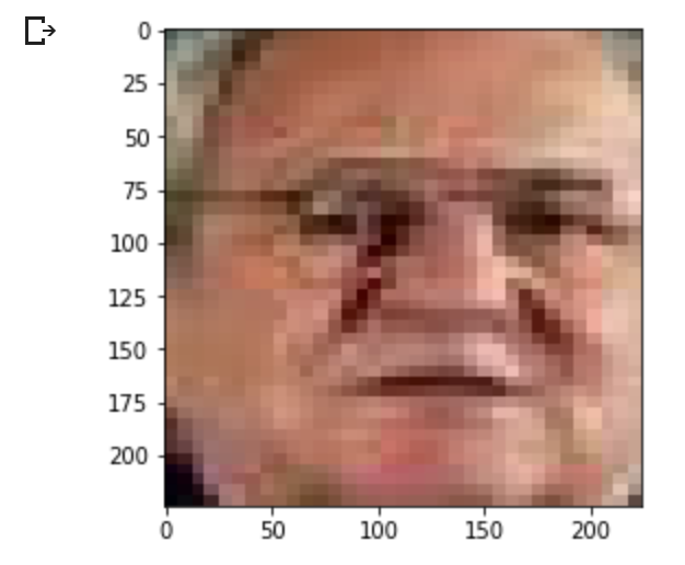 Extracted and resized face from first image